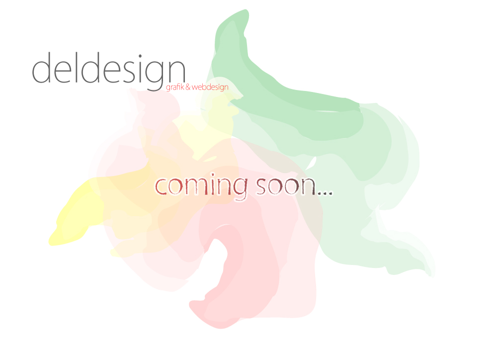 deldesign - grafik und webdesign - coming soon
